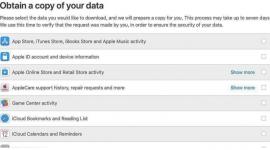 Hướng dẫn download toàn bộ dữ liệu của bạn mà Apple đã thu thập