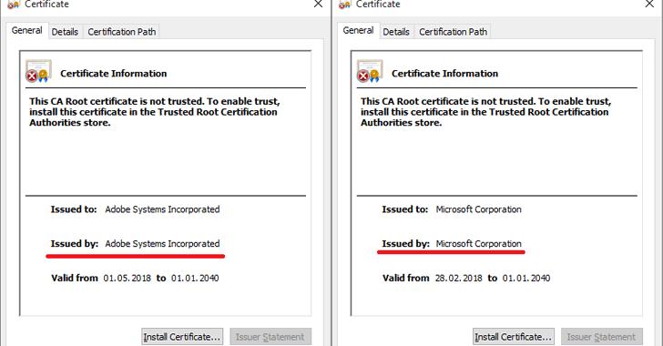 fake root-certificates