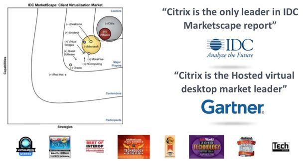 IDC và Gartner đánh giá về giải pháp ảo hóa của citrix