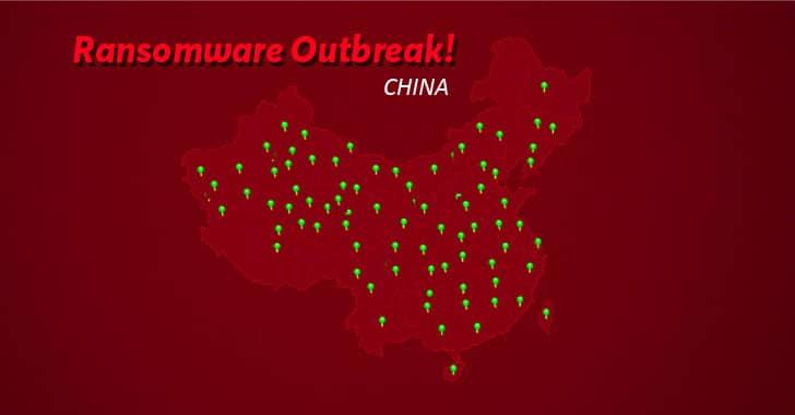 Hơn 100.000 máy tính ở Trung Quốc bị nhiễm ransomware