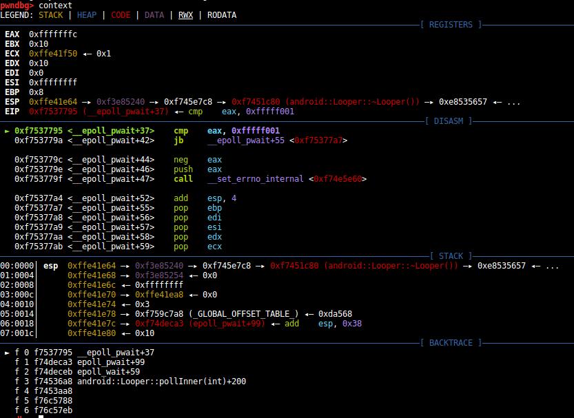 chạy lệnh context để kiểm tra chương trình