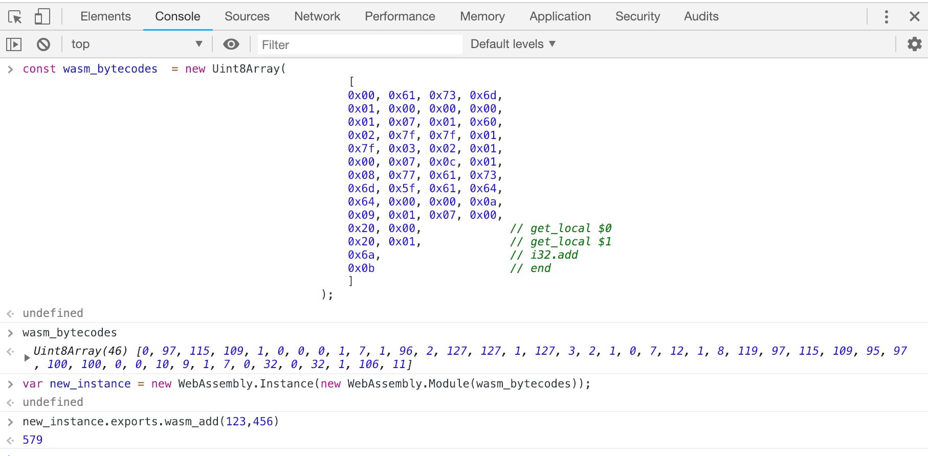 kiểm tra nhanh đoạn mã với DevTools Console