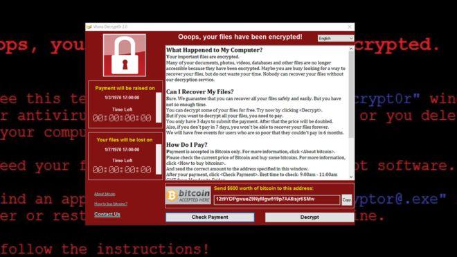 Đại dịch Ransomware WannaCry bùng phát trên toàn thế giới - Năm 2017