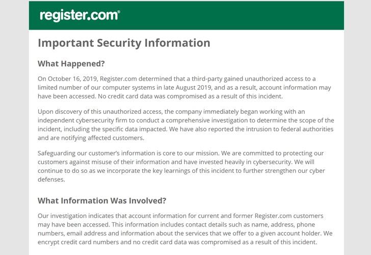 Công ty đăng ký tên miền hàng đầu thế giới bị vi phạm dữ liệu_2