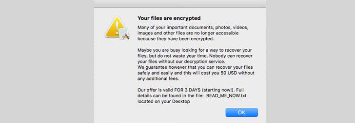 Ransomware mới nhắm mục tiêu người dùng Apple macOS_2