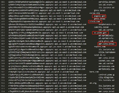 Decoded backdoor command & control server subdomains