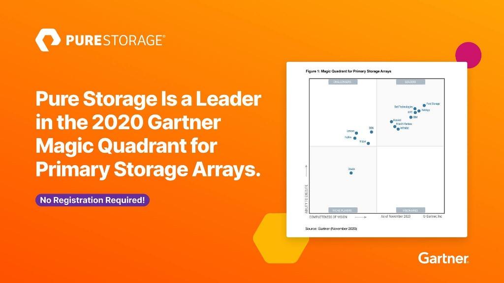 Pure Storage là leader trong Gartner 2020 cho Primary Storage Arrays
