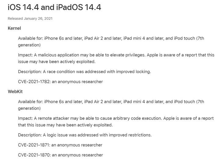 Apple cảnh báo về 3 lỗ hổng bảo mật iOS Zero-Day đang bị khai thác_2
